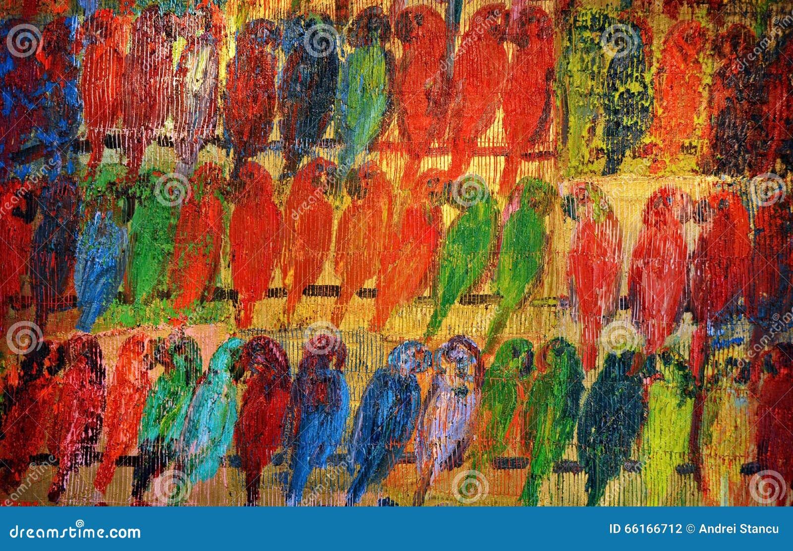 Perroquets peints