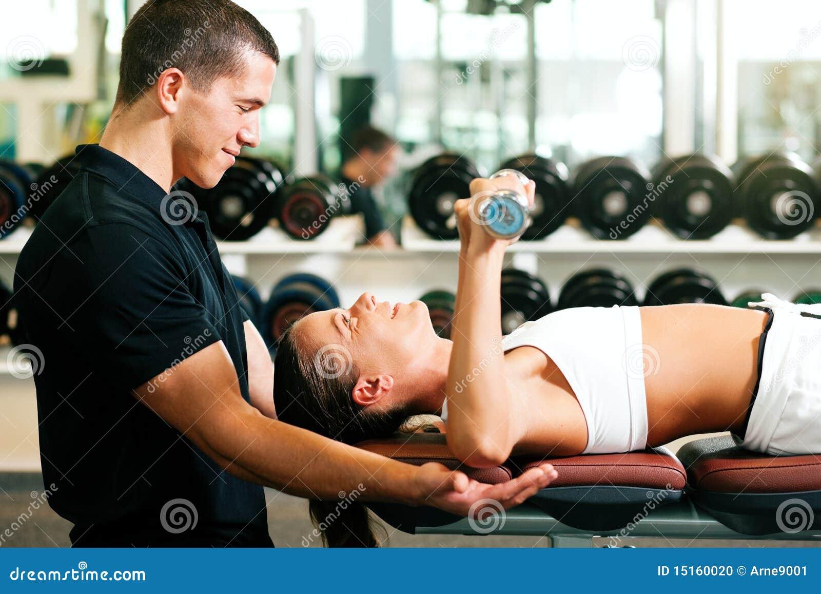 Persönlicher Kursleiter in der Gymnastik