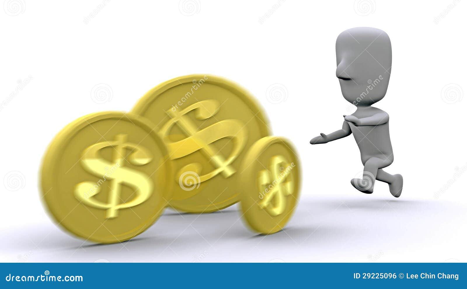 Download Perseguindo a riqueza ilustração stock. Ilustração de povos - 29225096