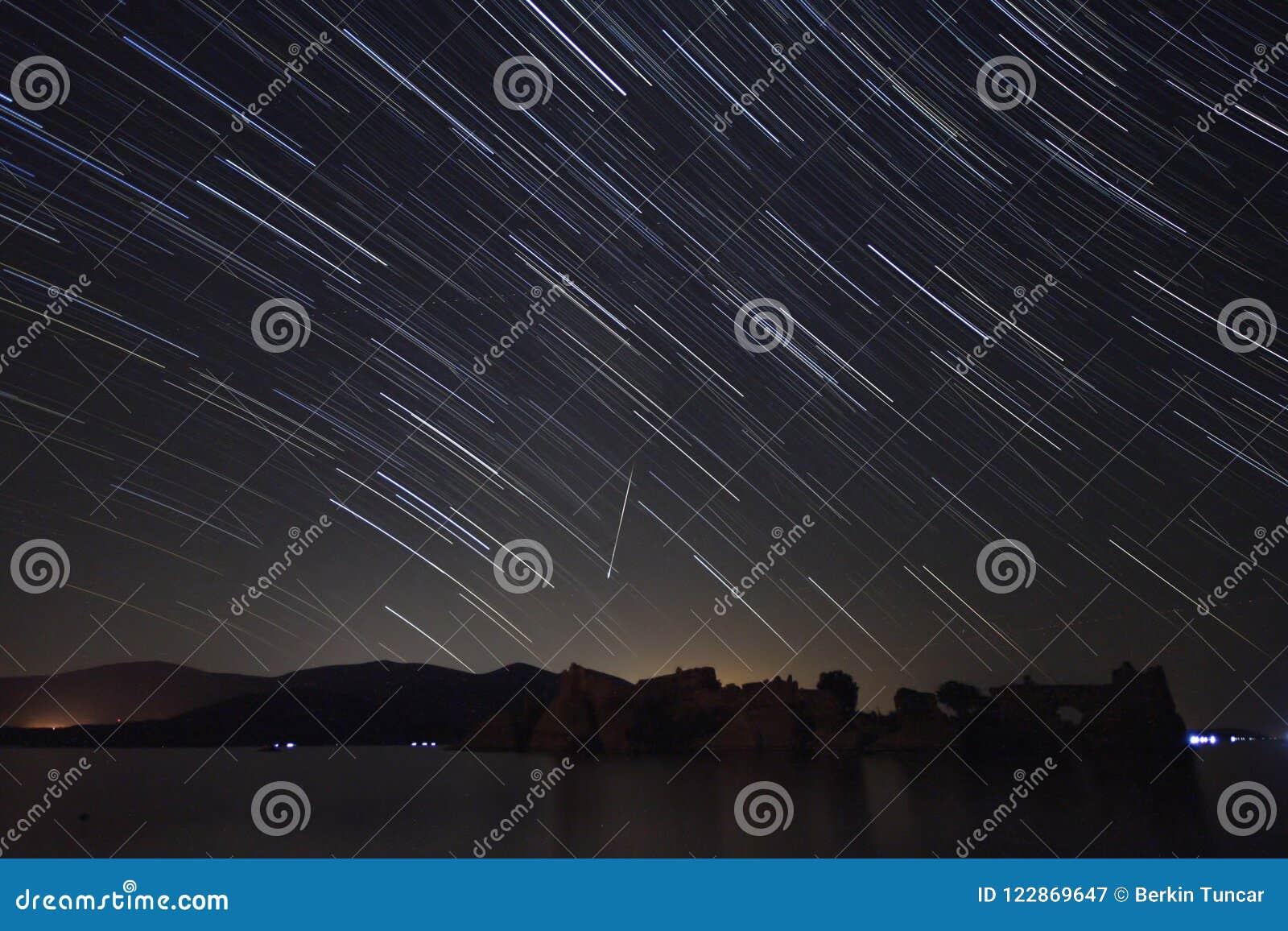 Perseid meteorowa prysznic