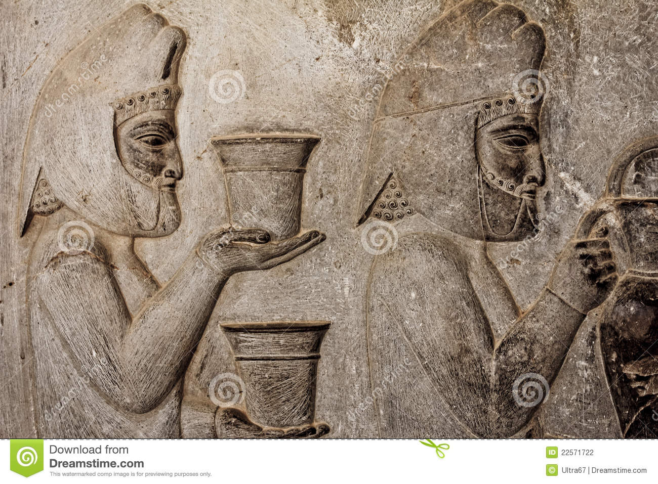 Persepolis bas relief stock photography image