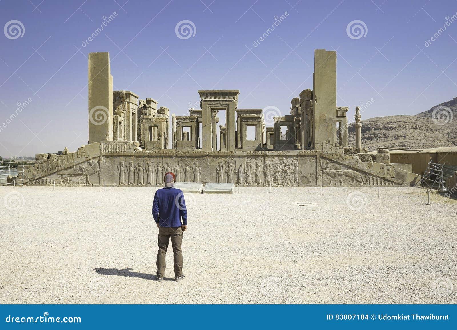 Persepolis en el norte de Shiraz, Irán Ha llevado a su designación como sitio del patrimonio mundial de la UNESCO