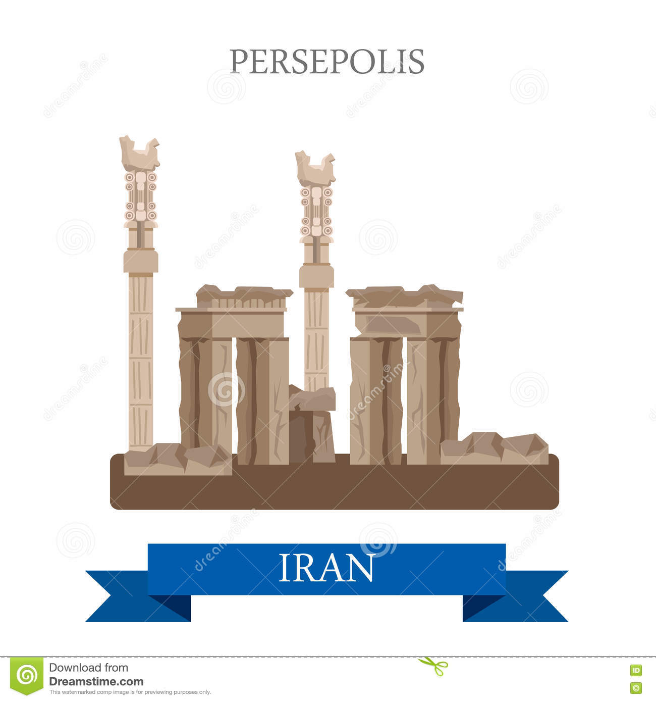 Persepolis in iran vector flat attraction landmarks stock vector persepolis in iran vector flat attraction landmarks buycottarizona Choice Image