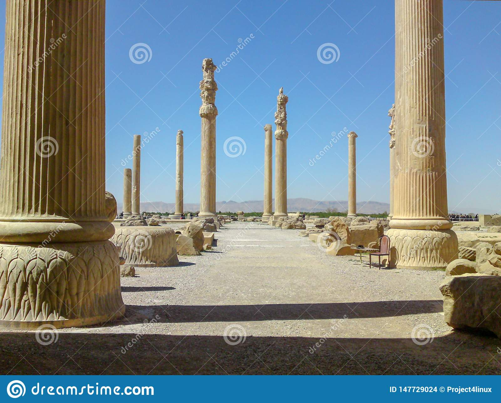 Persepolis Iran Persepolis Was The Ceremonial Capital Of The Achaemenid Empire Stock Photo Image Of Ancient Archaeological 147729024