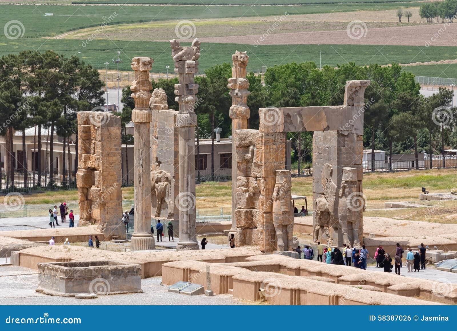 Persepolis Xerxes Gateway Editorial Photo Image Of Entrance 58387026