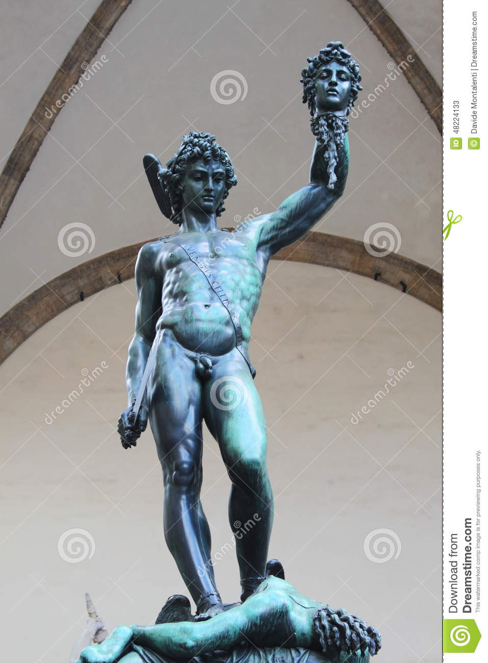 Perseus With The Head Of Medusa Florence Stock Image