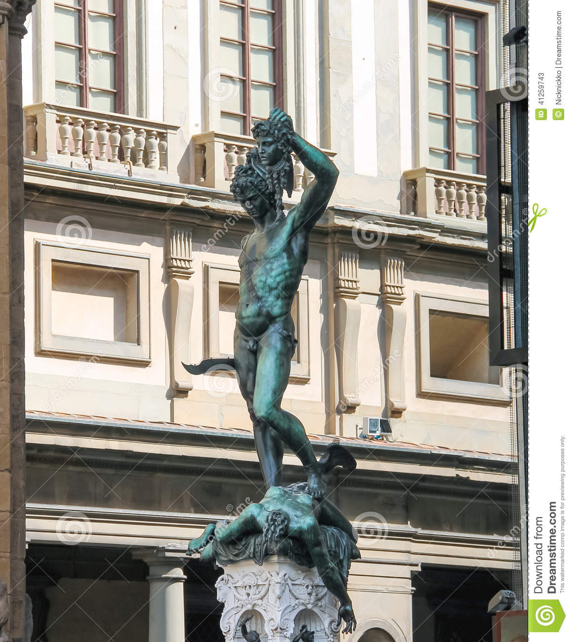 Perseus Holding The Head Of Medusa By Benvenuto Cellini