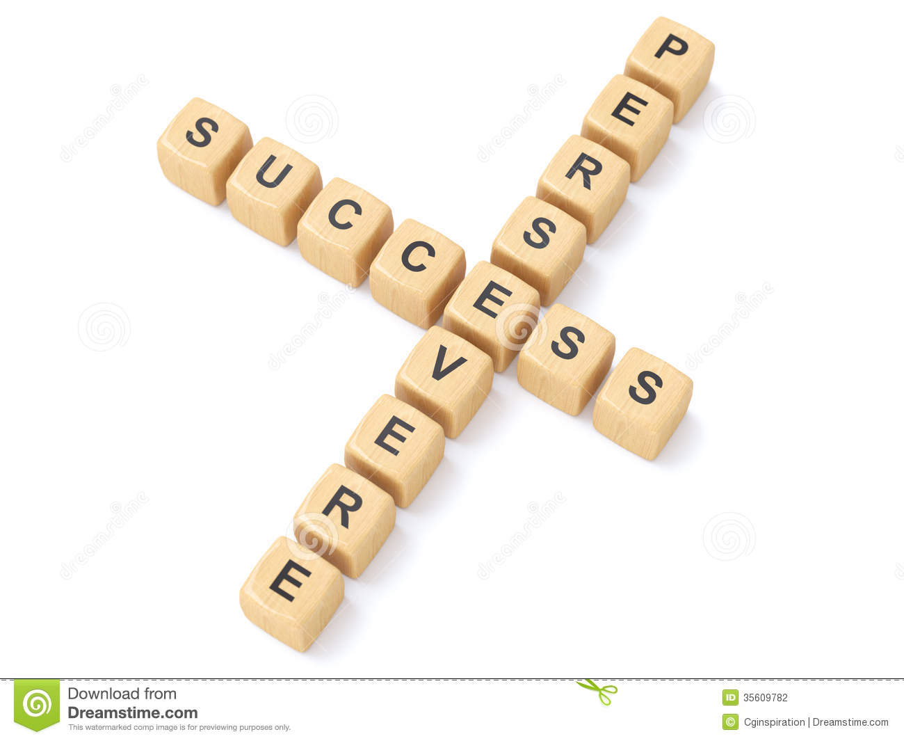 Persevere And Success Crosswords Stock Photography - Image: 35609782