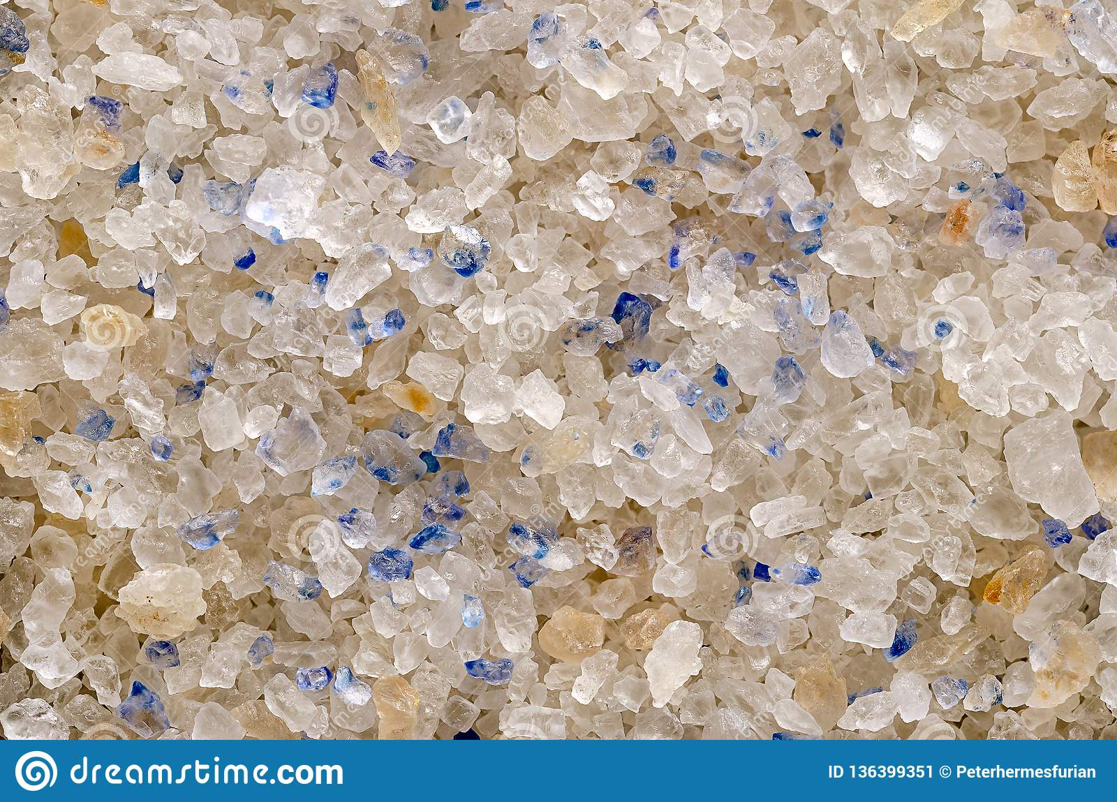 Persian Blue Salt crystals closeup, surface and background