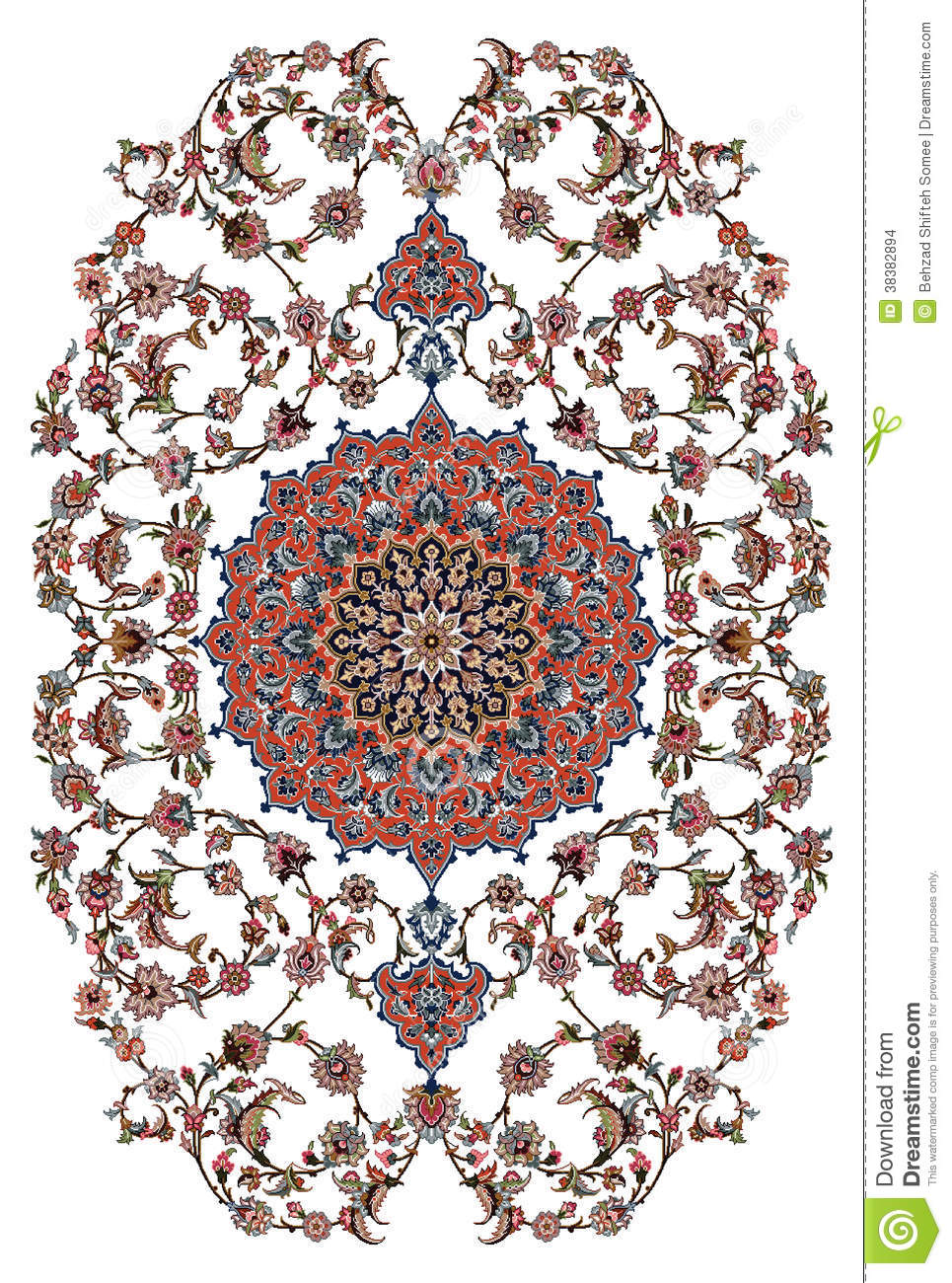 Persian Carpet Design Stock Illustration Image Of Carpet
