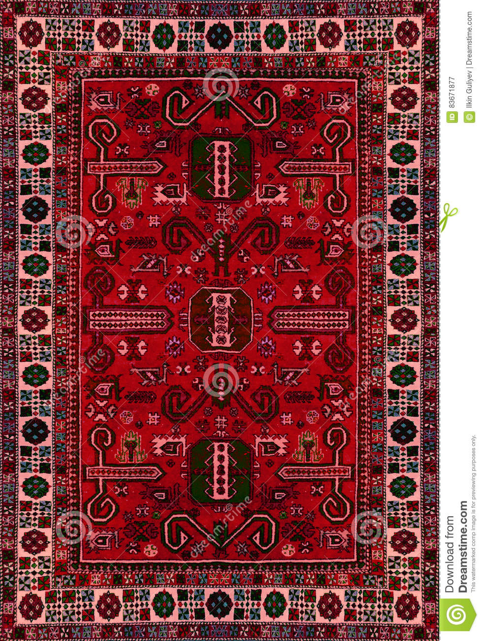 Oriental Ornate Traditional Carpet Texture Royalty Free