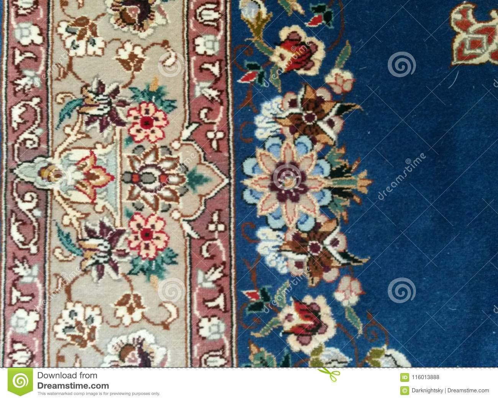 Persian Fine Silk Oriental Rug Carpet Middle East Stock