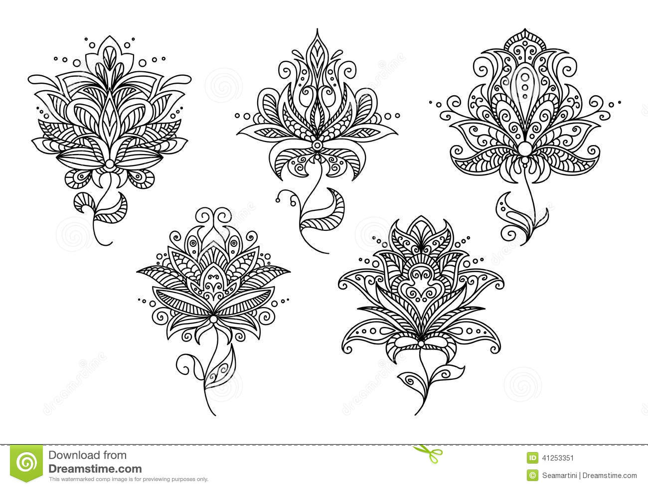 Stock Illustration Round Mandala Simple Lovely Can Be Used As Part Pattern Tattoo Sketch Coloring Pattern Image68313086 in addition Card Template With Fantasy Black And 13571374 further Stock Photo Stencil Lyre Vector Illustration Image37698000 as well Stock Illustration Persian Indian Paisley Floral Elements Set Retro Design Image41253351 together with Industrial City Silhouette 3304872. on vector flower graphics