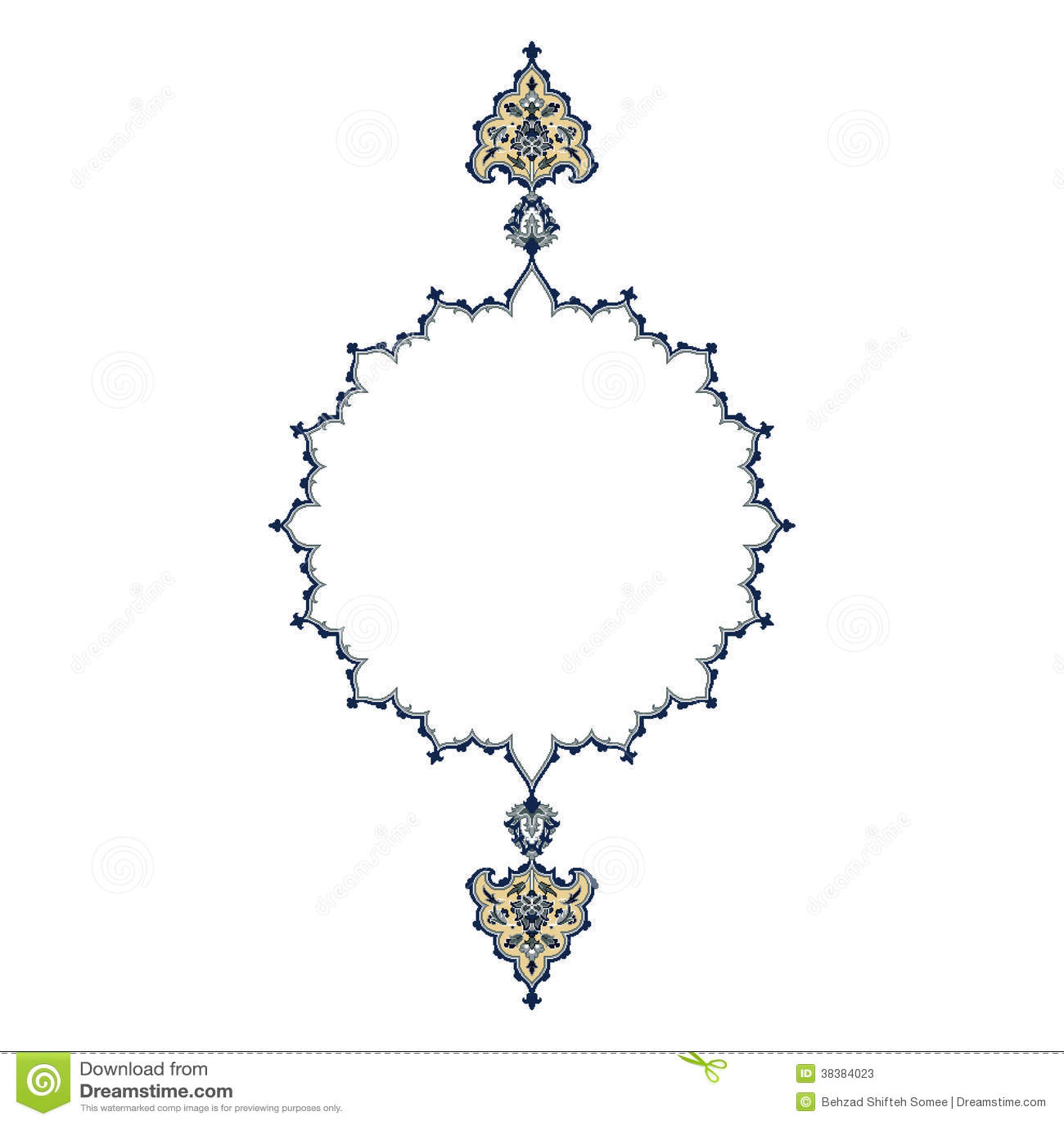 Persian Motif Design Stock Vector Image Of Background