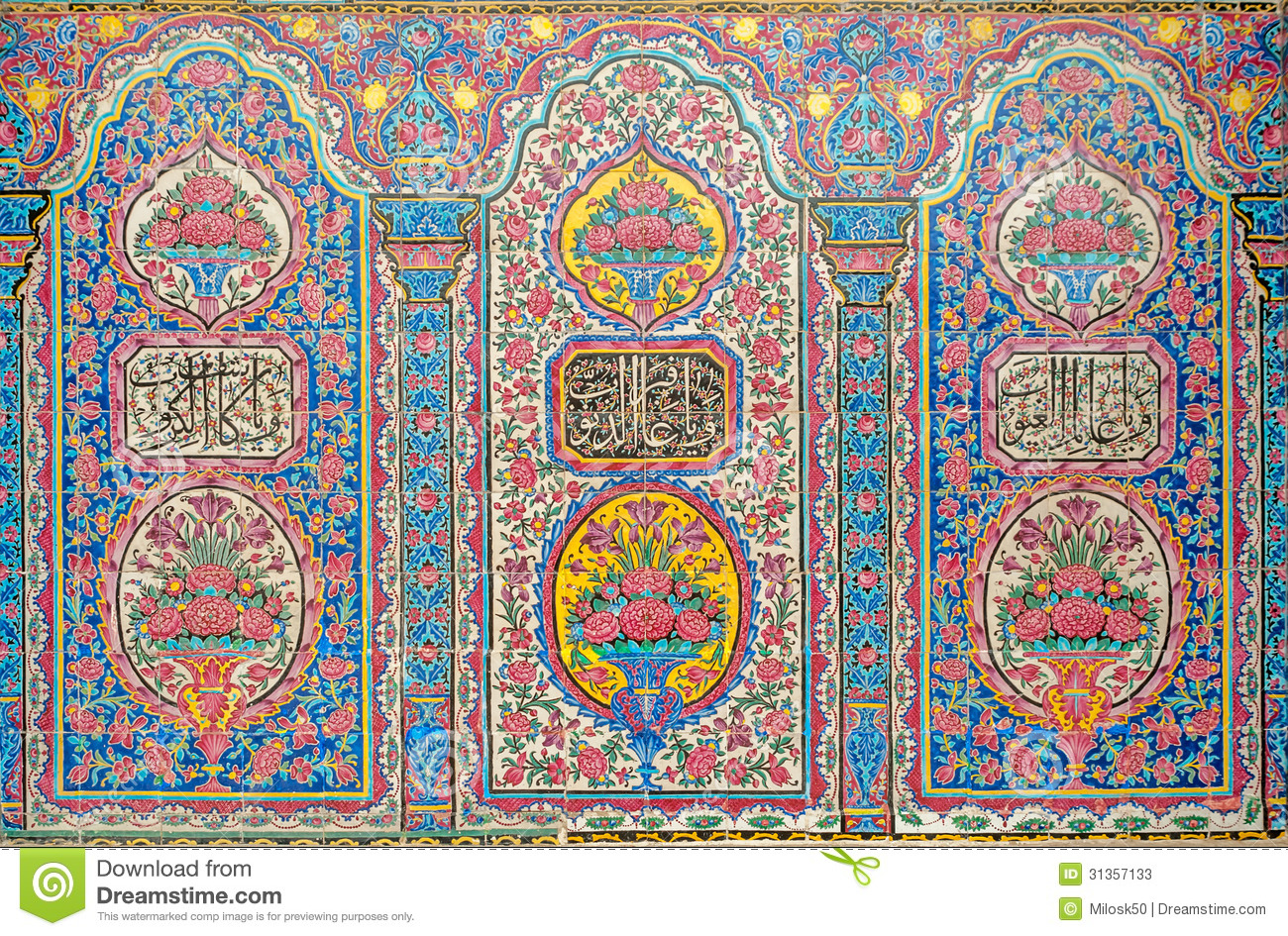 Persian pattern stock photos image 31357133 - Design patterns wall painting ...