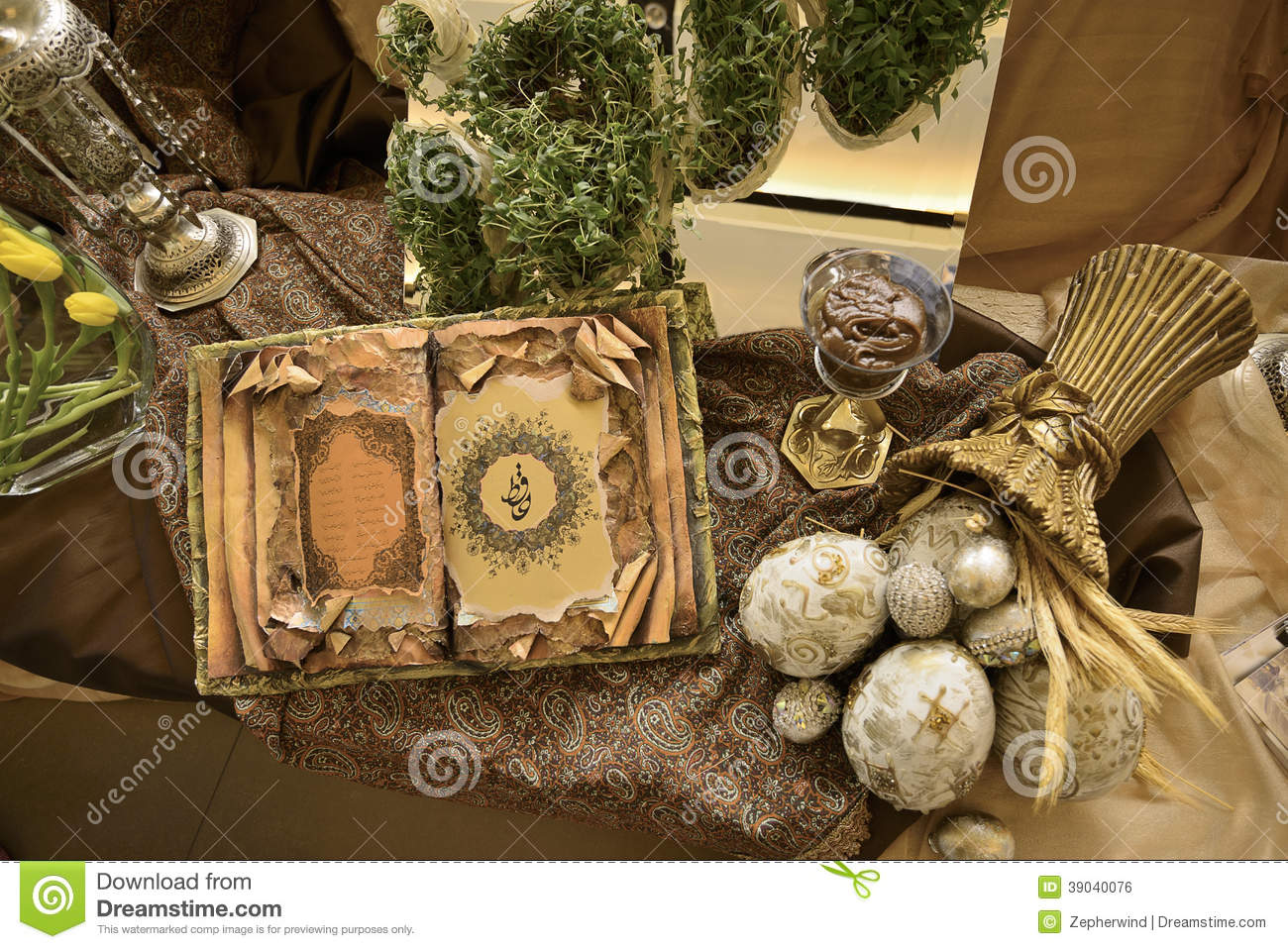 Persian table display stock photo image 39040076 - Decorative books for display ...