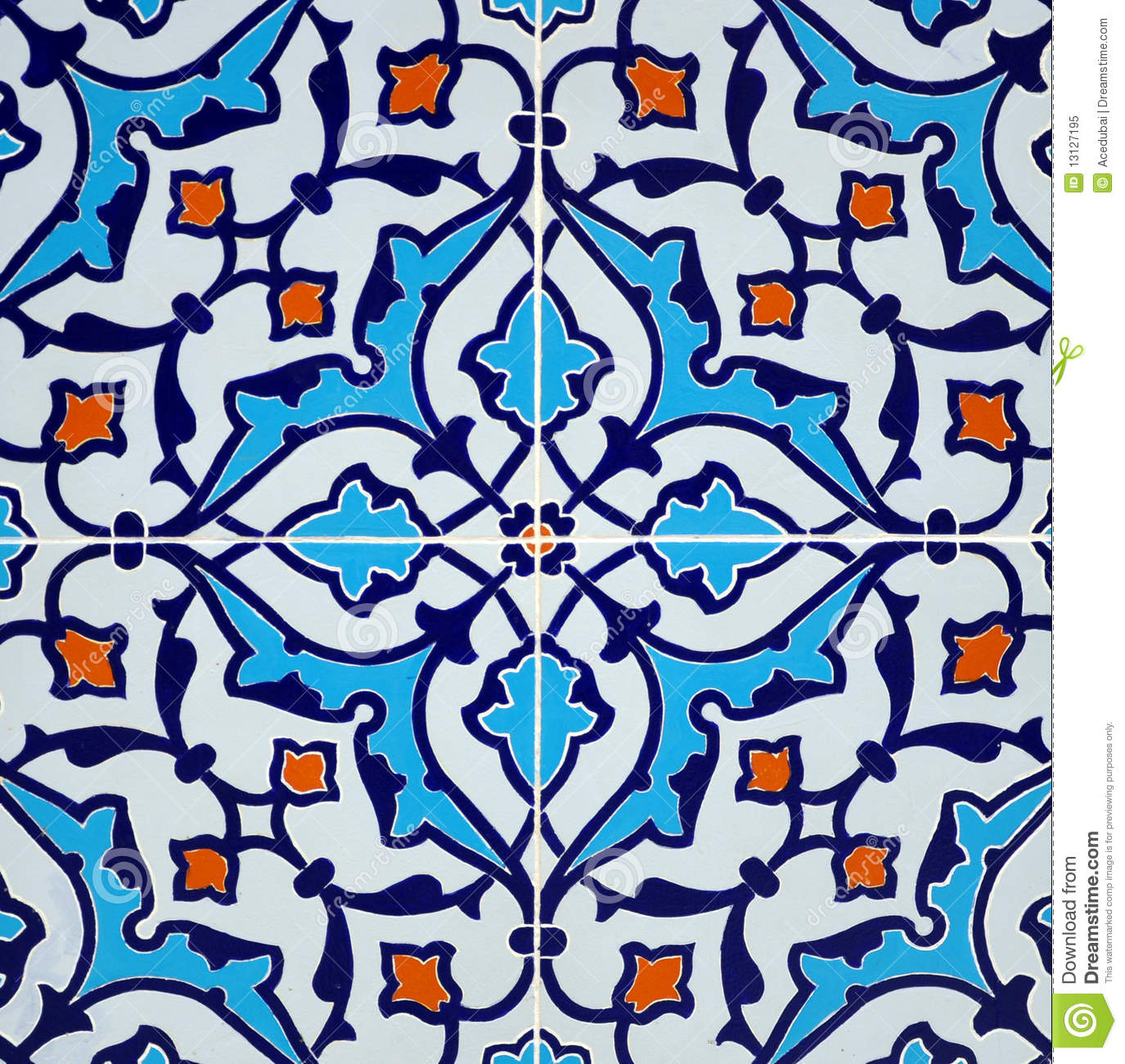 Persian Tile Design Royalty Free Stock Photo Image 13127195