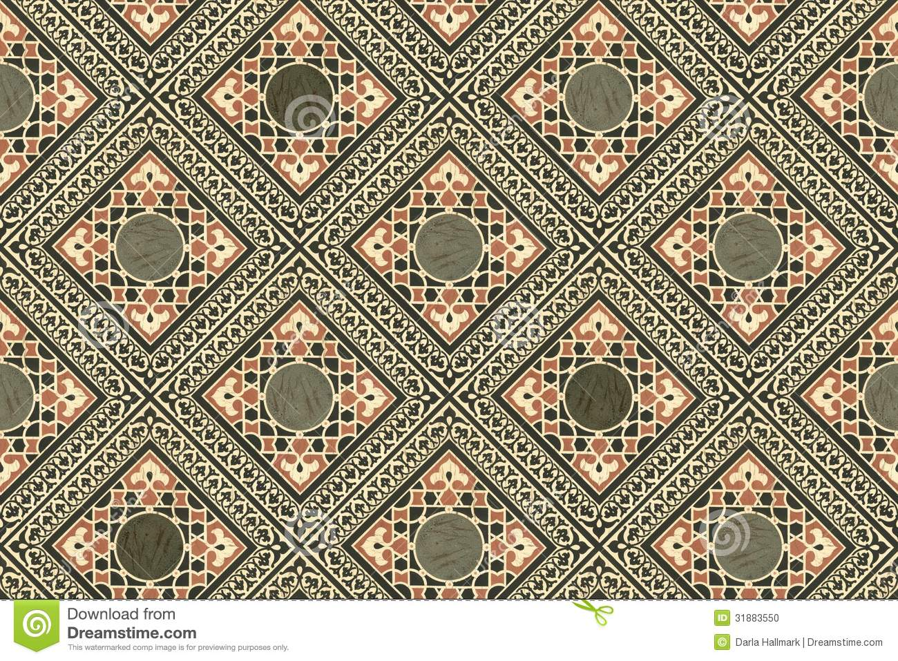 Persian Tiles Wallpaper Stock Photo Image Of Antique