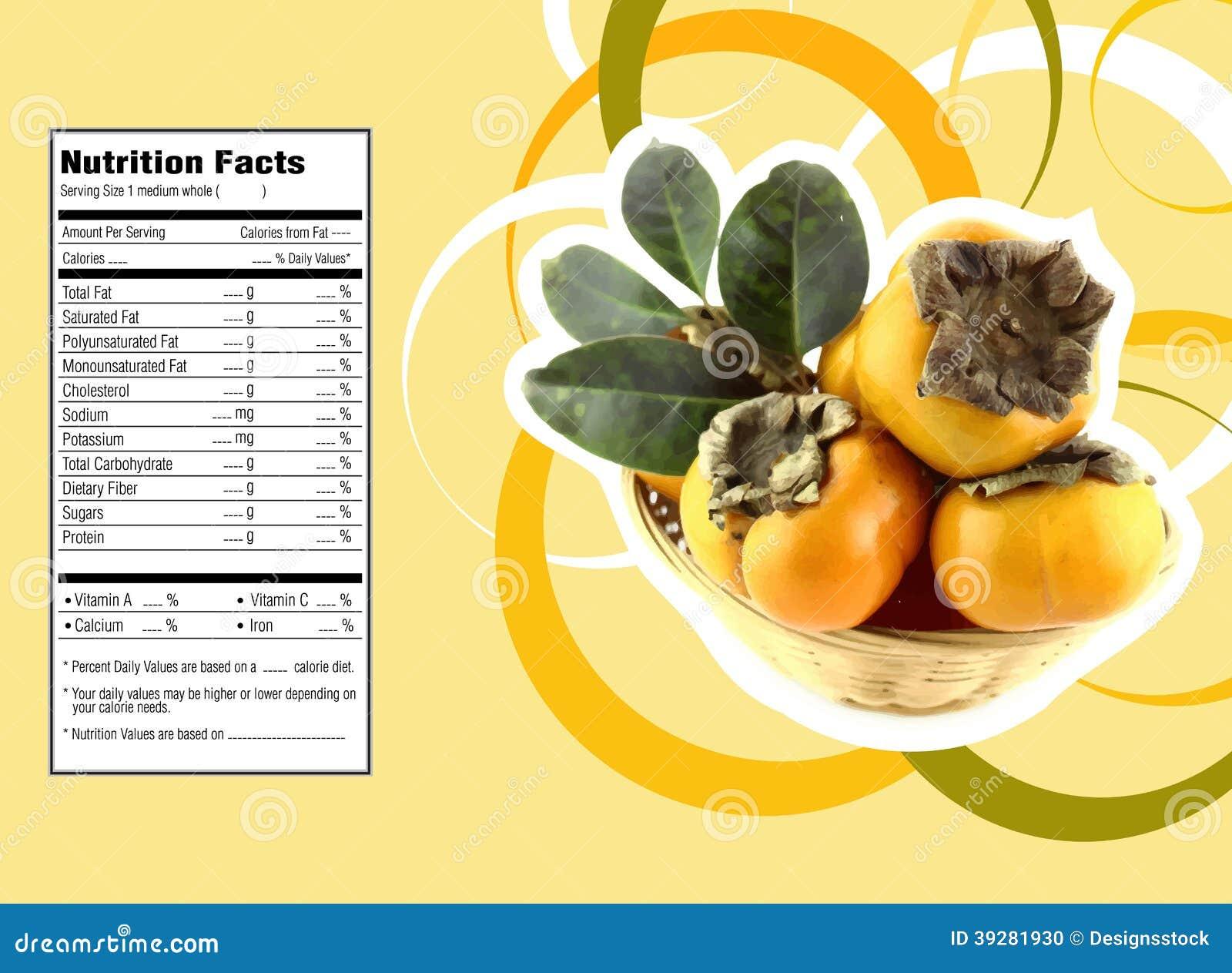 persimmon fruit calories