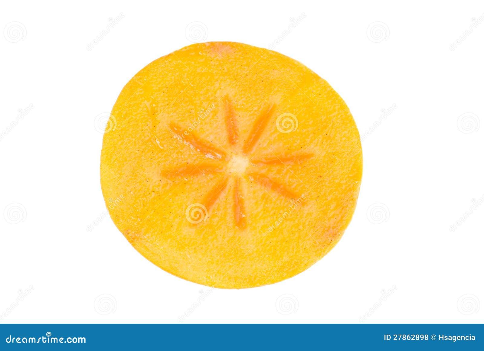 Persimmon owoc plasterek na biel