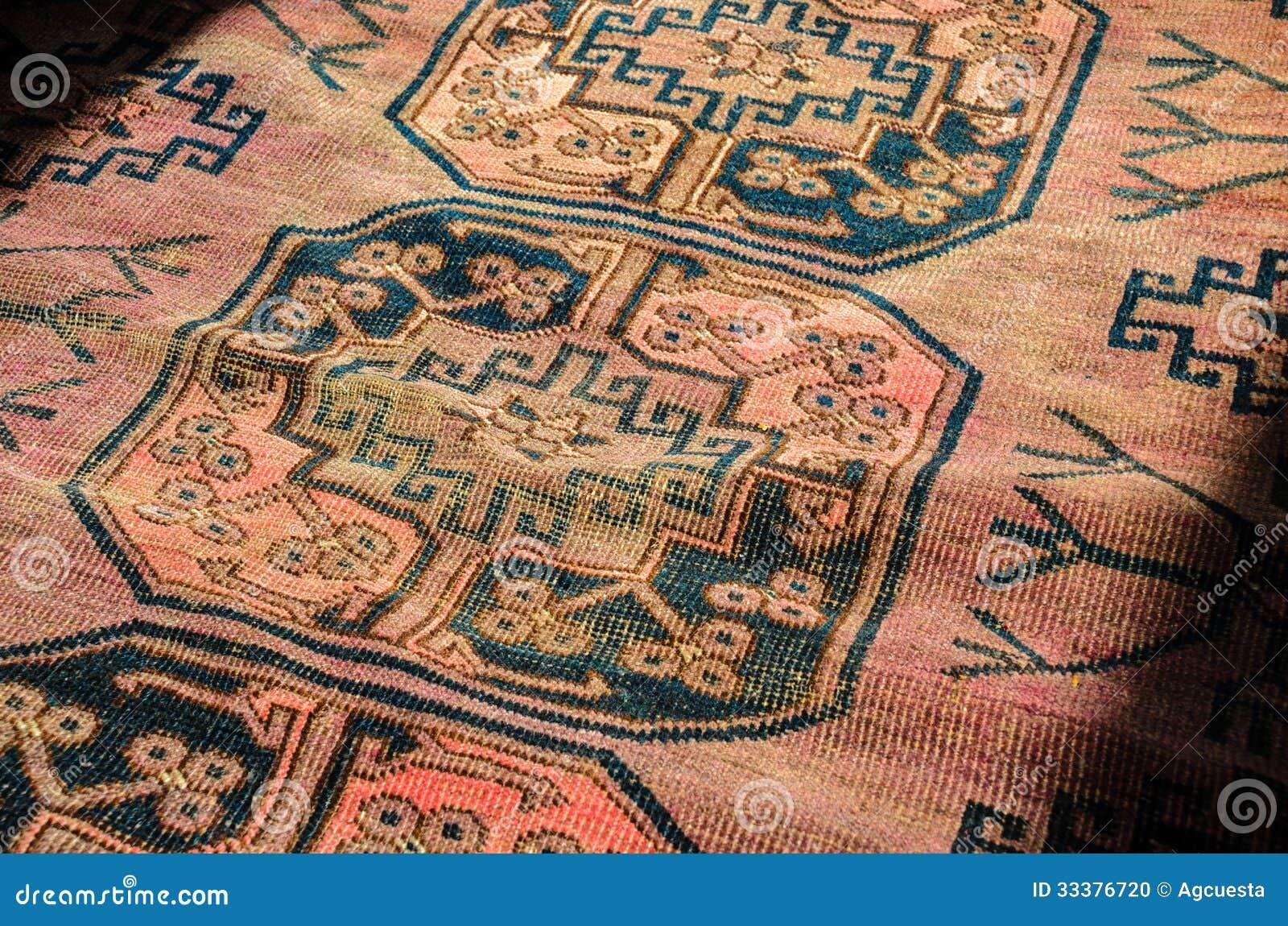 Persischer Teppich Abschluss Oben Stockfoto Bild Von Knoten