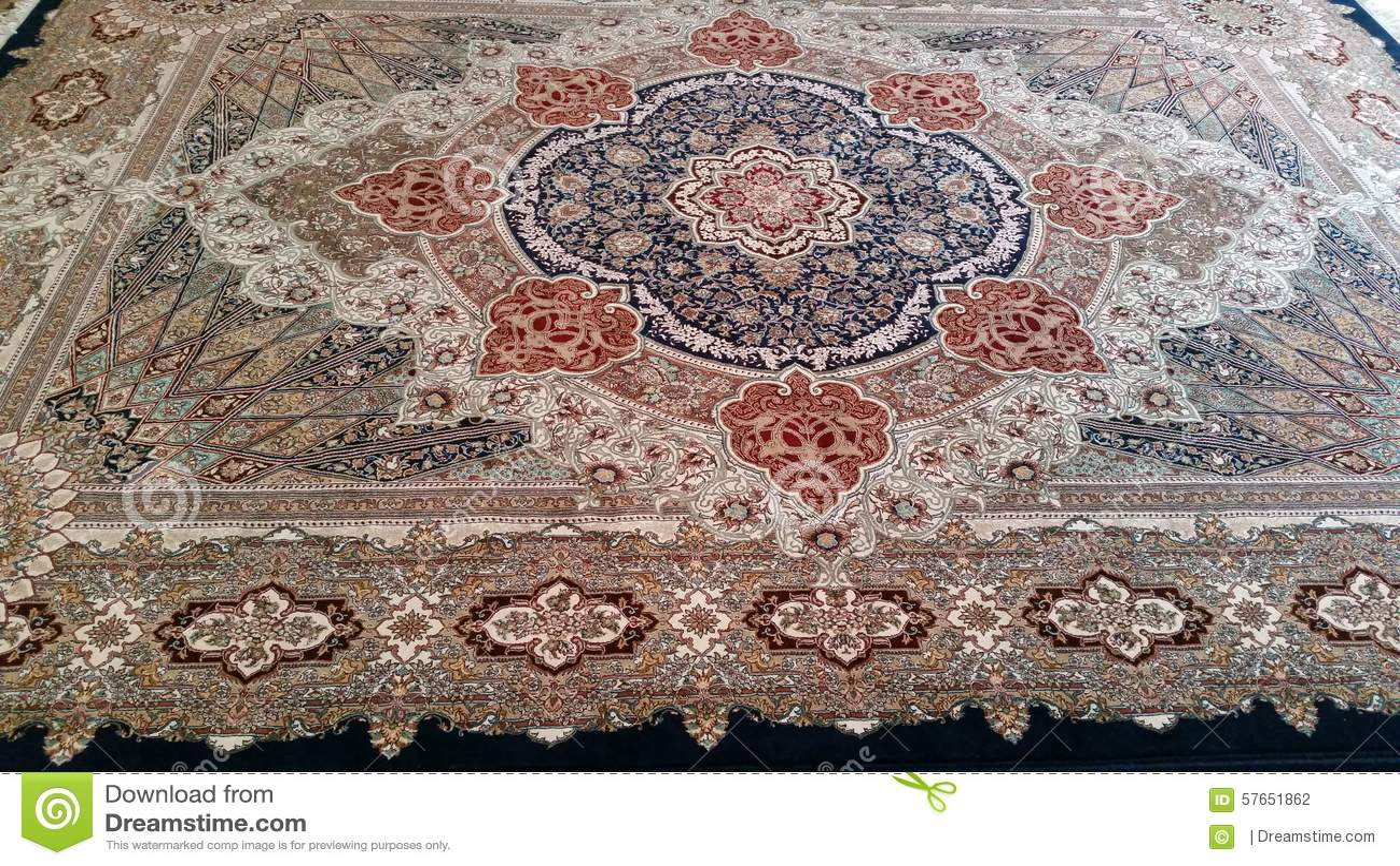 Persischer Teppich Abschluss Oben Stockfoto Bild Von Schon Haupt