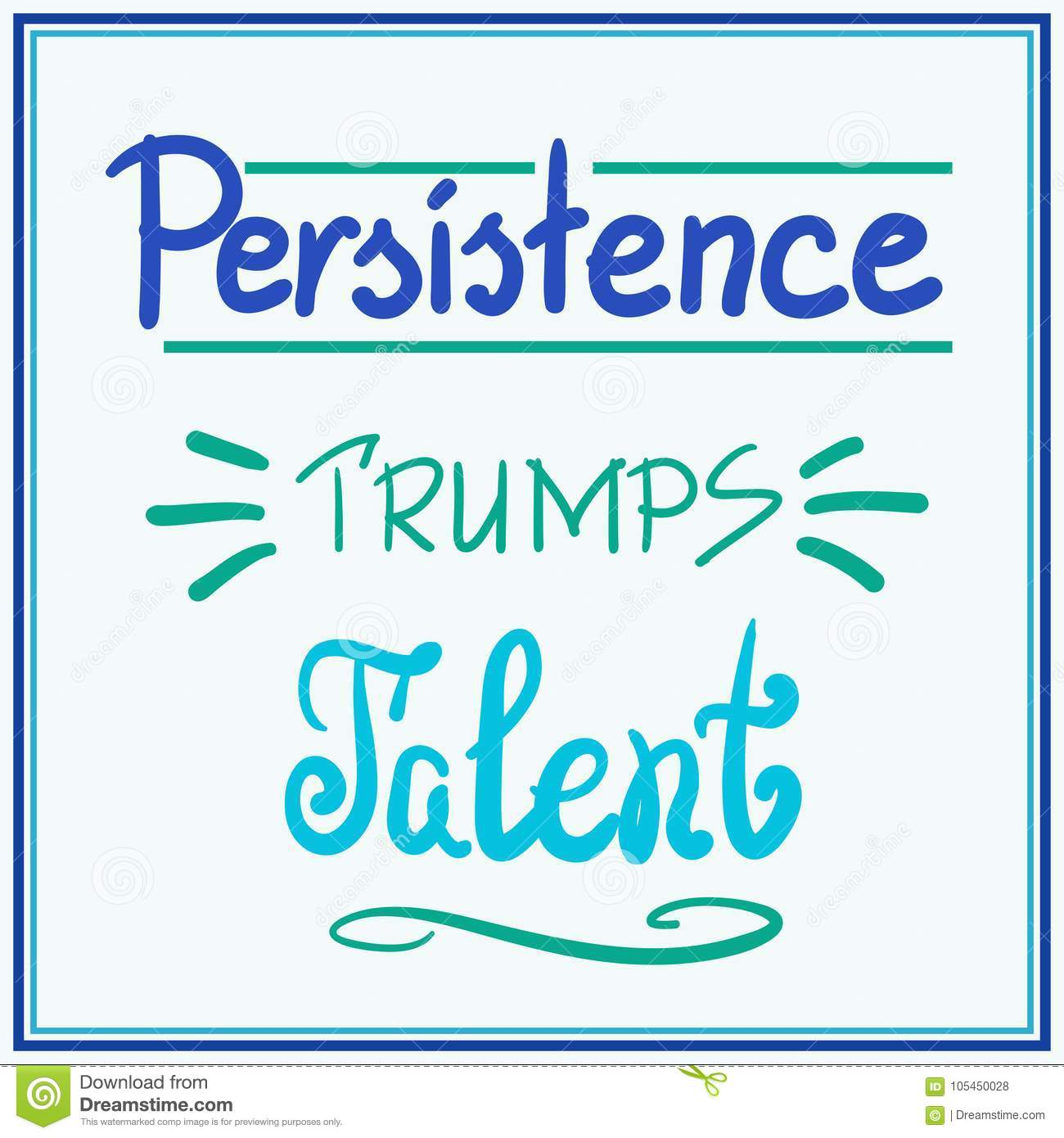 Persistence Motivational Quotes Cartoon: Persistence Stock Illustrations