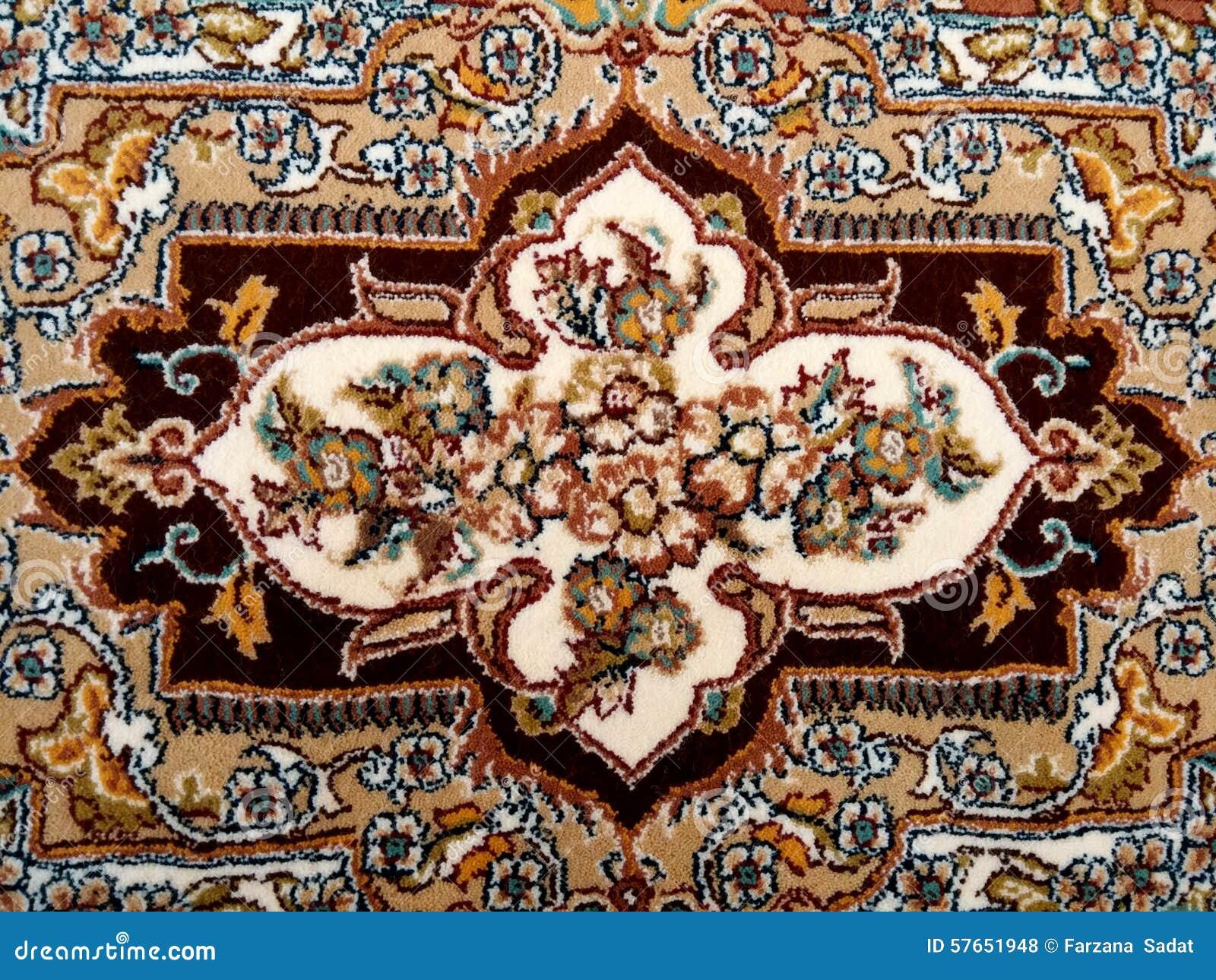 Perskiego dywanu zakończenie Up