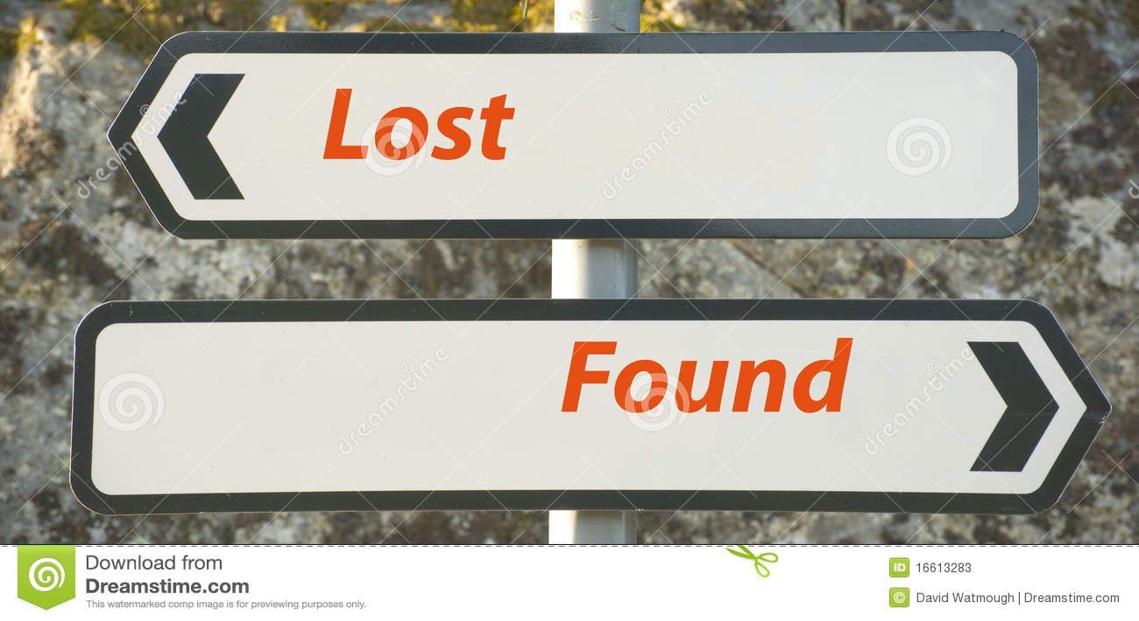 Perso e trovato.