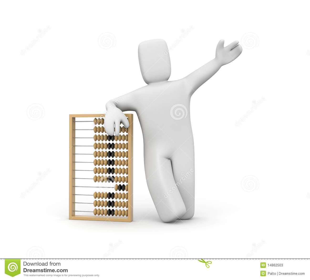 Person with abacus