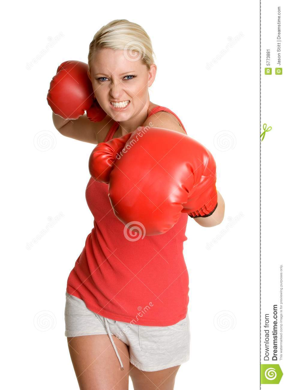 Person Boxing Stock Image - Image: 5773881