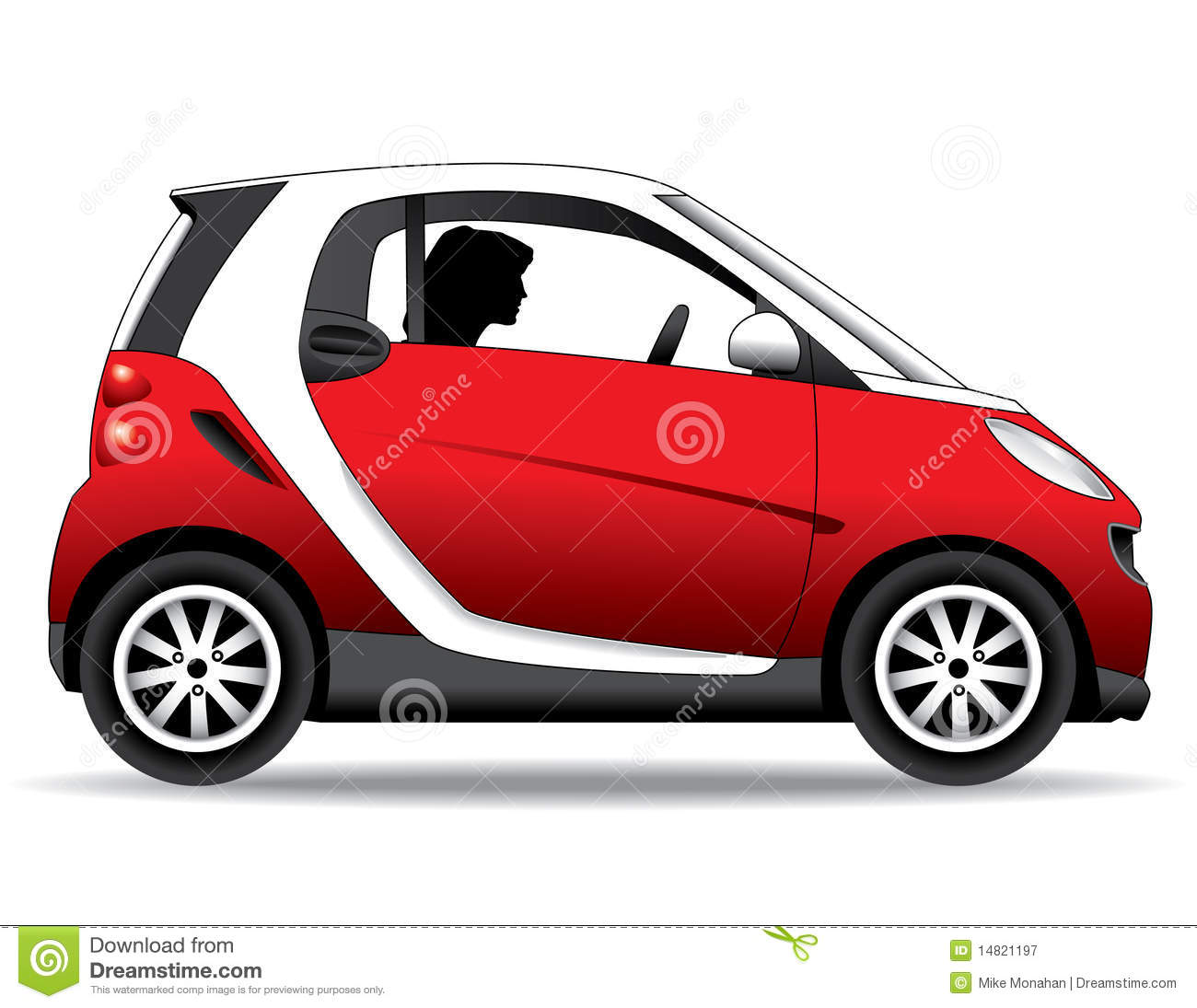 Person driving small red car royalty free stock photography image 14821197 - Clipart voiture ...