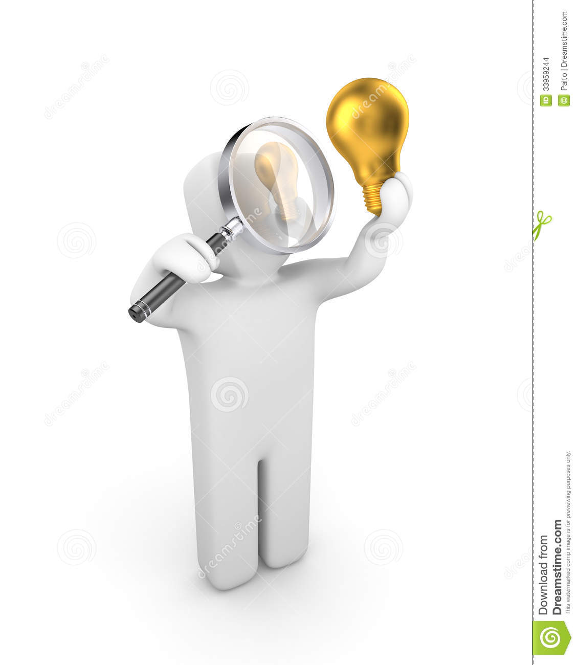 Person examines lightbulb new idea metaphor stock images for New idea images