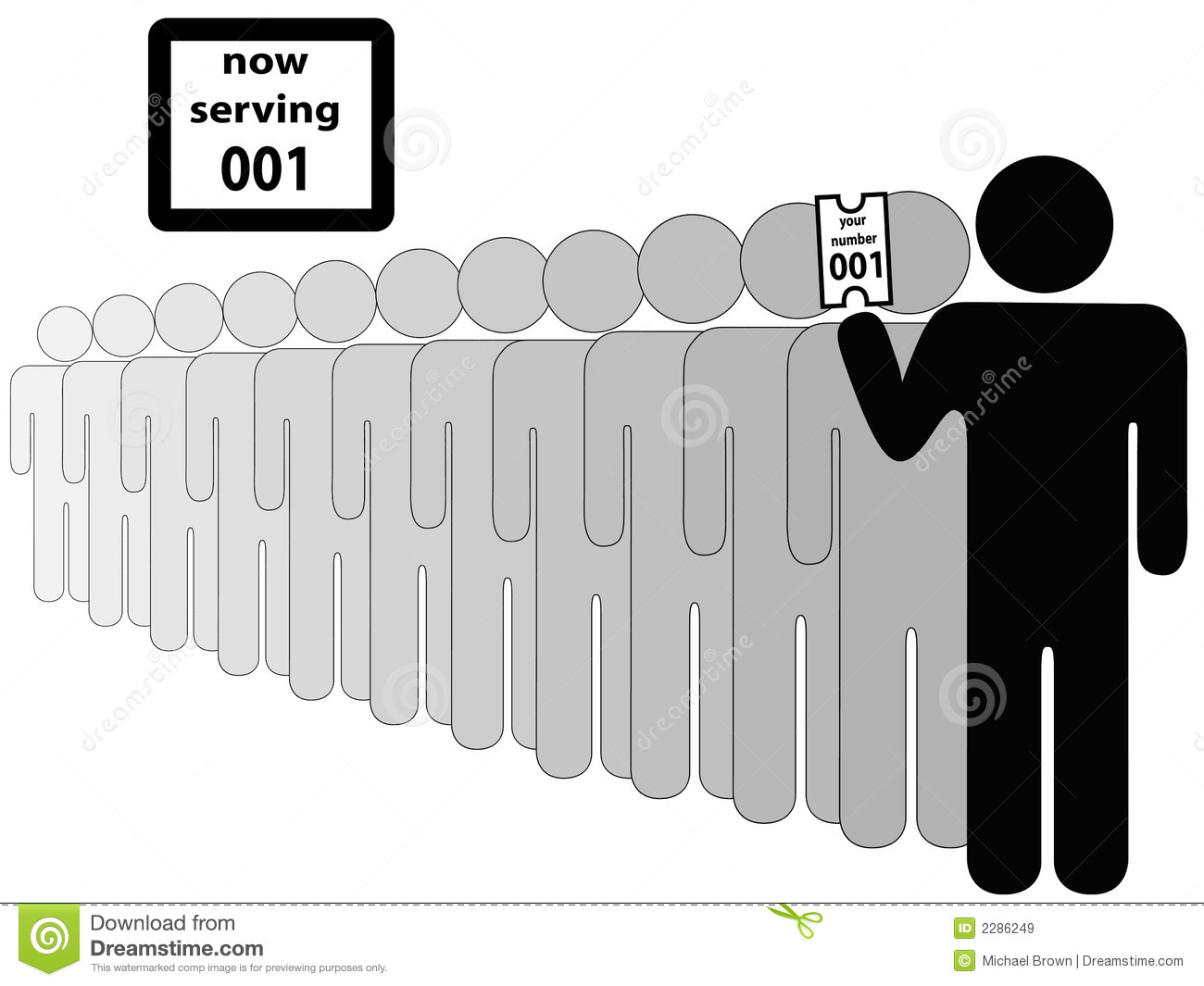 Line Art Person : Person first in line royalty free stock images image