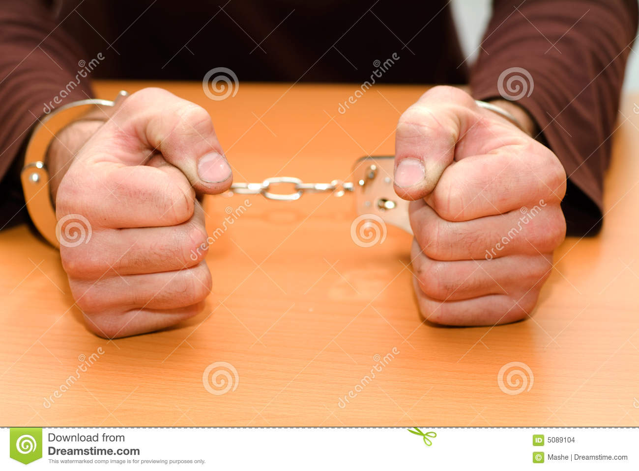 Person In Handcuffs Stock Images Image 5089104