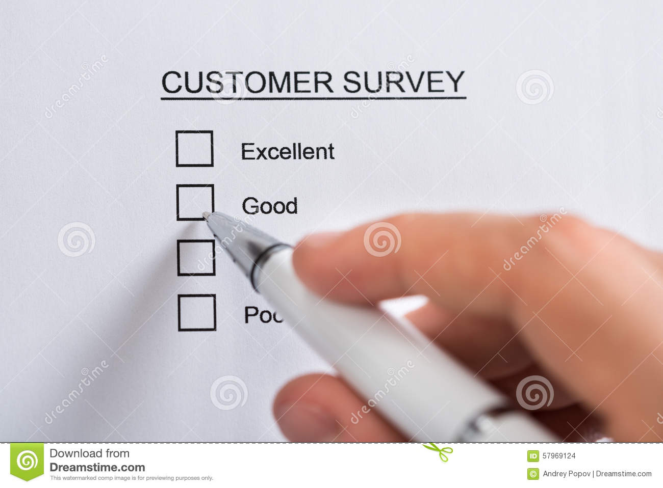 in person surveys person hands filling customer survey form royalty free 8675