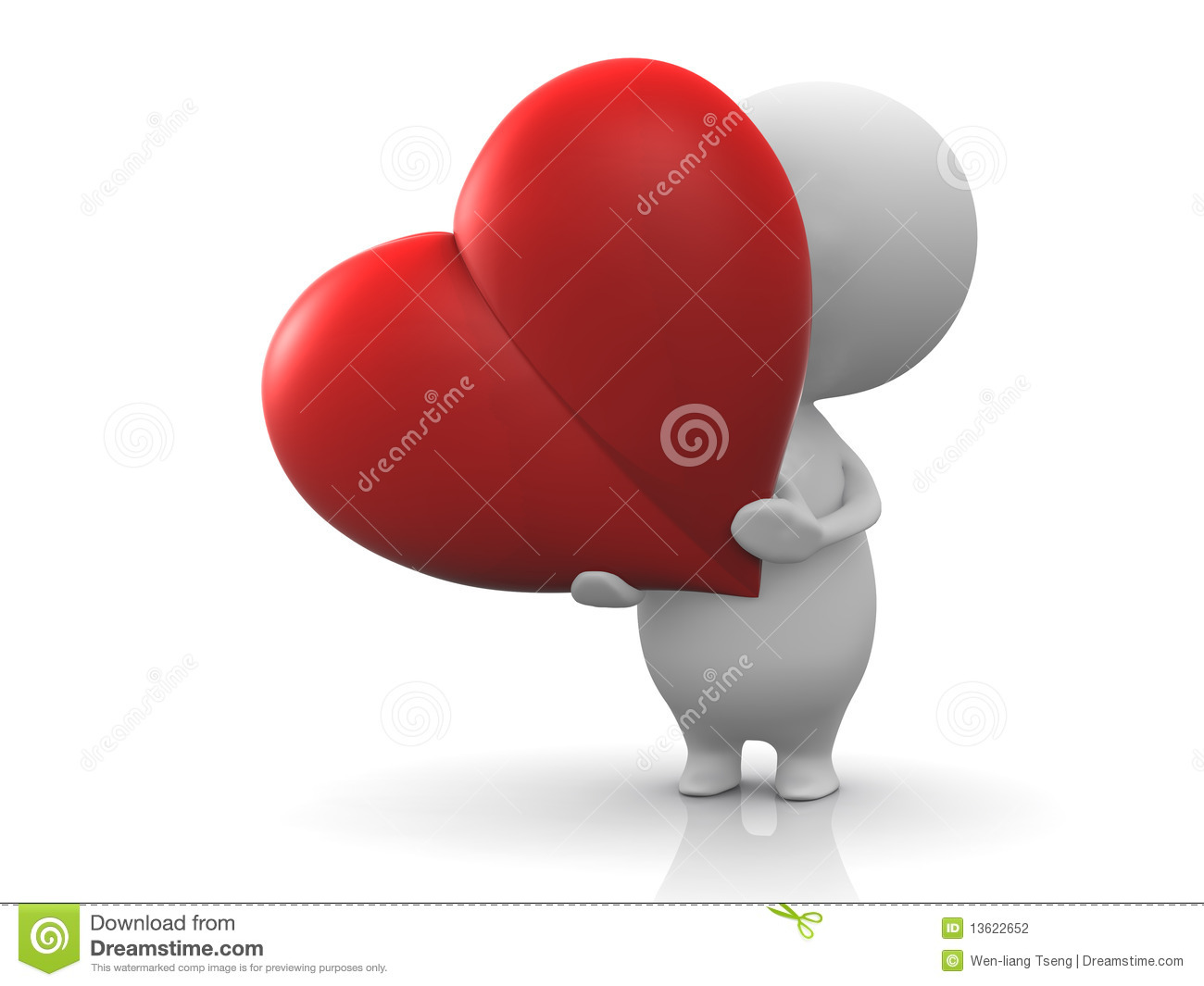Person Hold A Red Heart Stock Photography - Image: 13622652