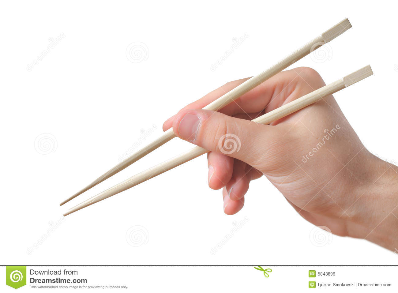 Person Holding Chopsticks Royalty Free Stock Image Image