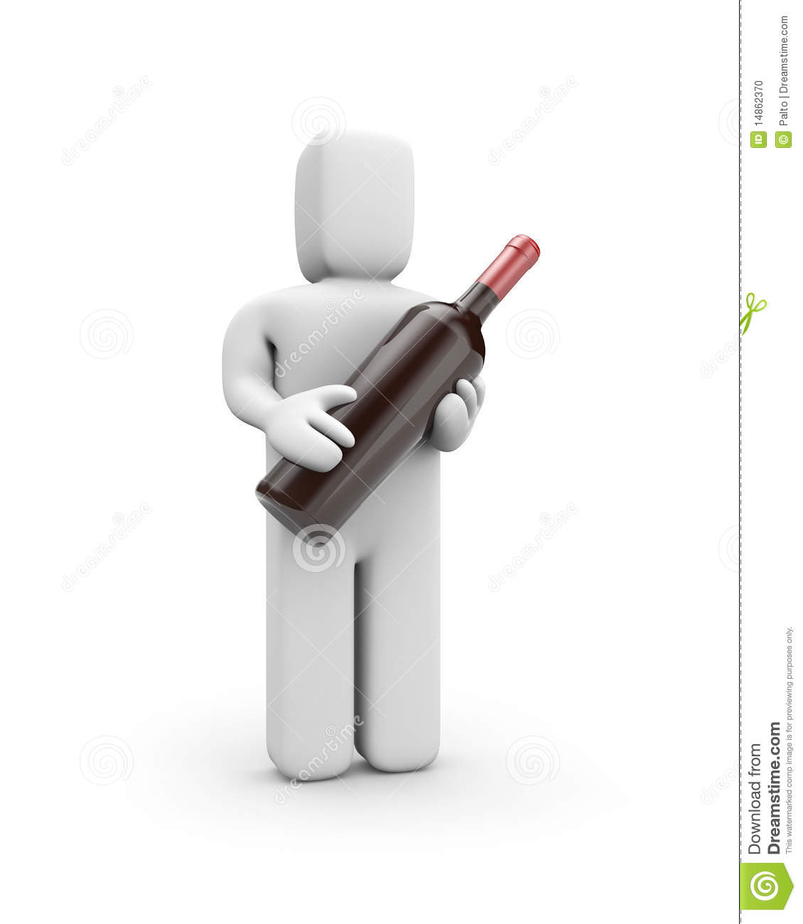 Person holds a bottle of wine