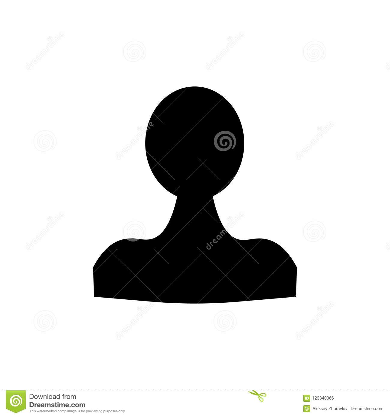Person Icon People In Trendy Flat Style Isolated On Background