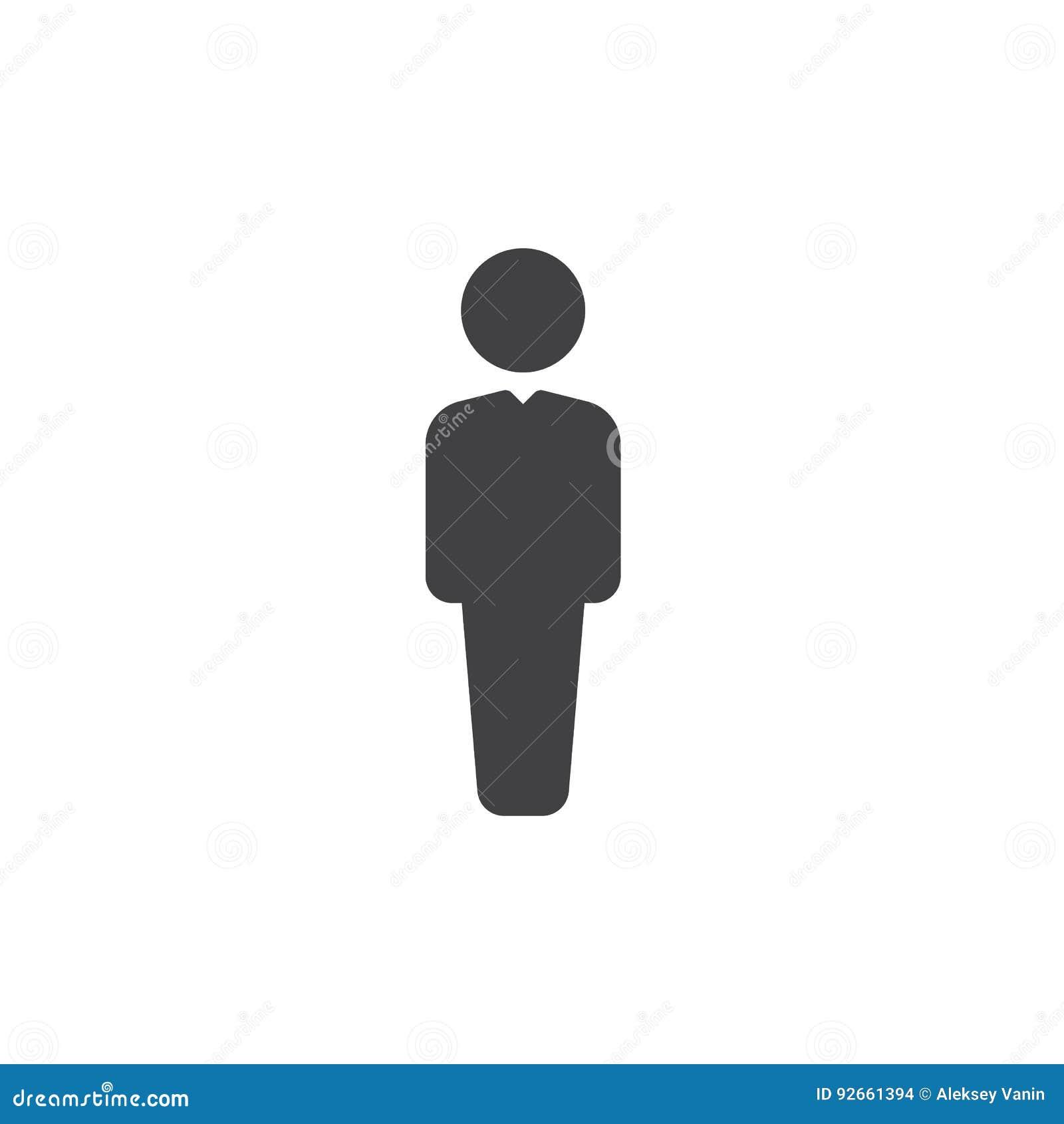 Person icon vector white