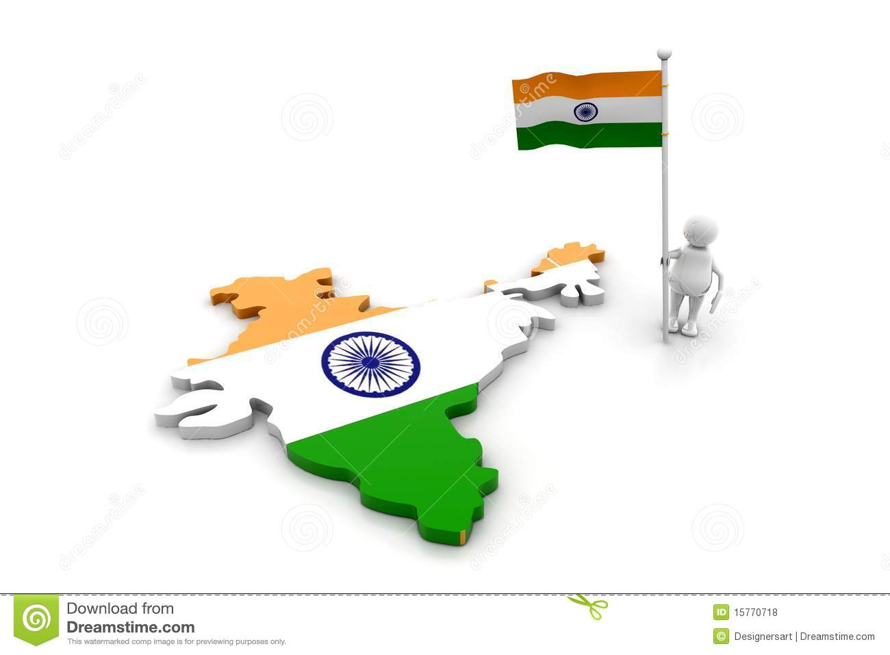 India Flag Map: Person With Indian Flag And Map Royalty Free Stock Photos