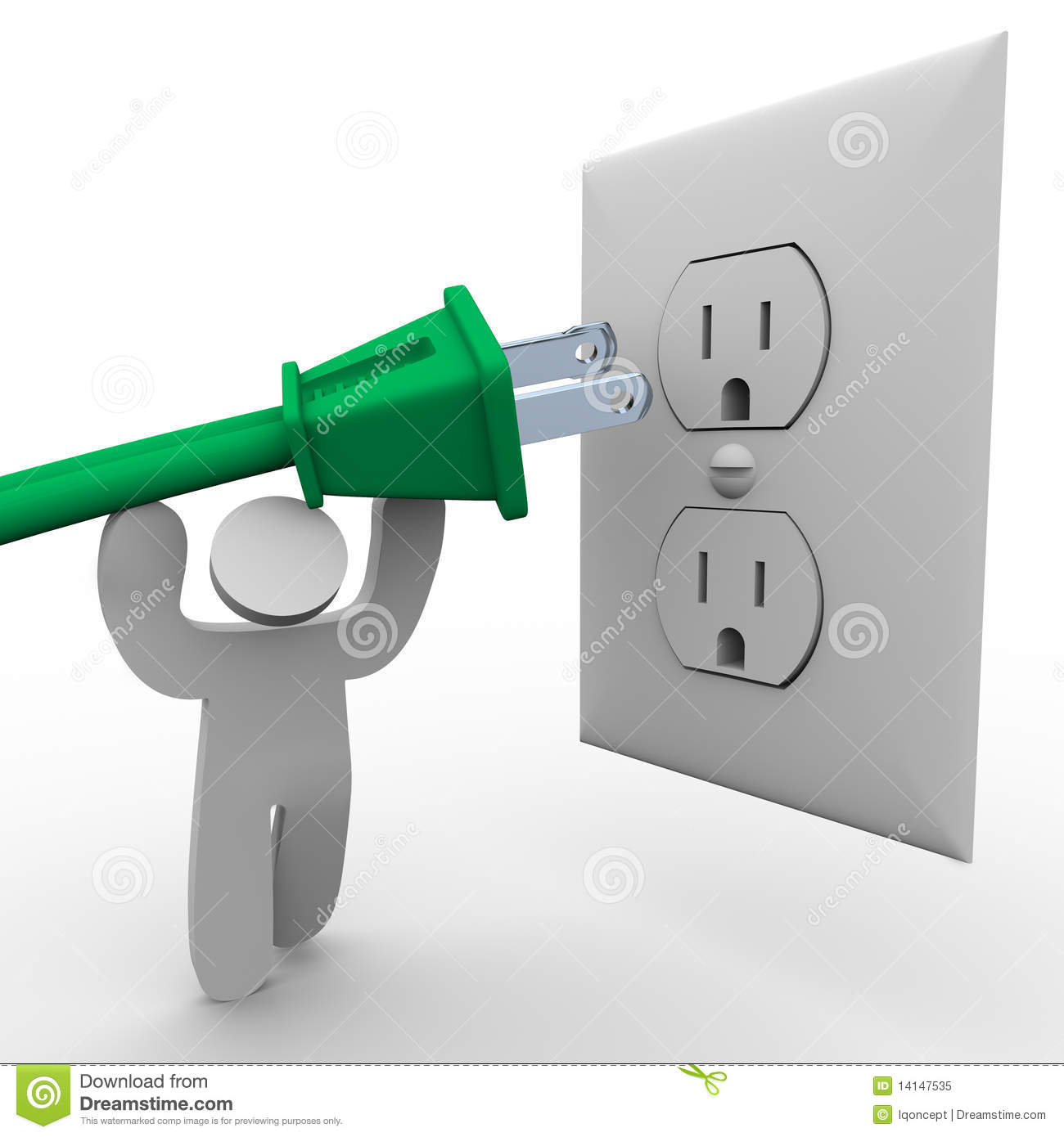 Plug Power Stock Quote: Person Lifting Power Plug To Electrical Outlet Stock