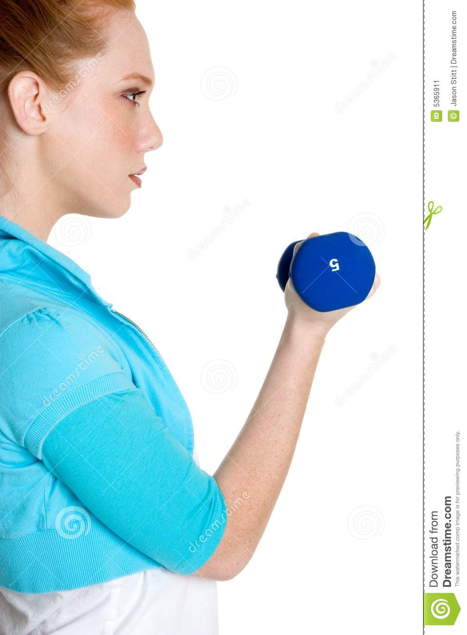 Person Lifting Weights Stock Image - Image: 5365911