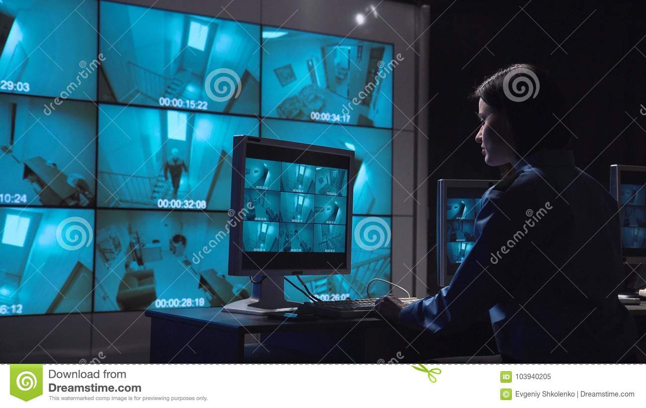 Person monitoring closed circuit surveillance