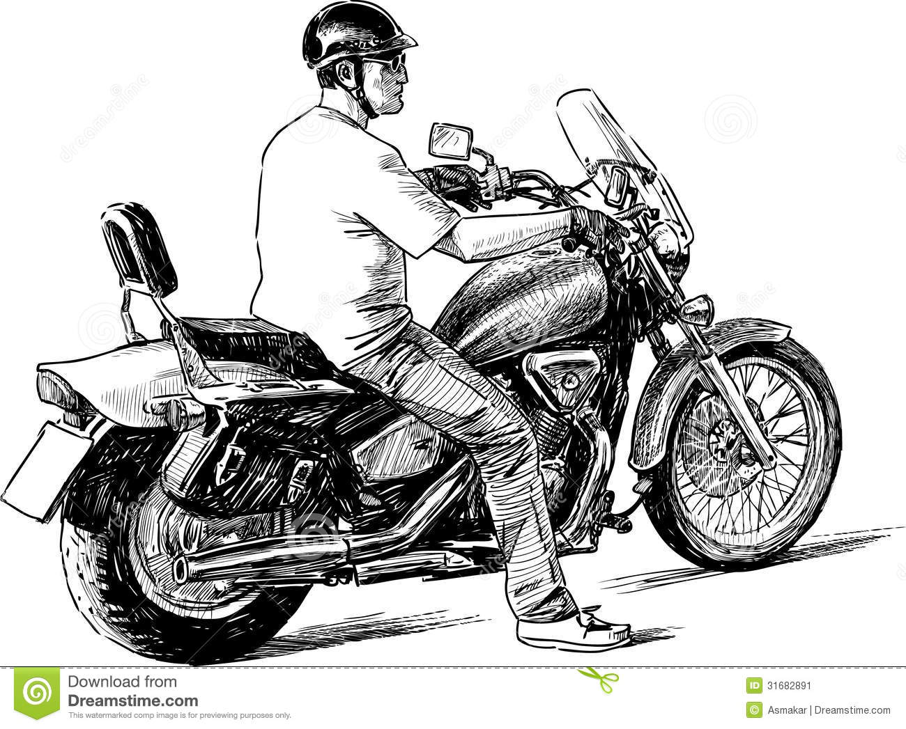 Stock Image Person Motorcycle Vector Drawing Man Riding Motorbike Image31682891 on harley seats