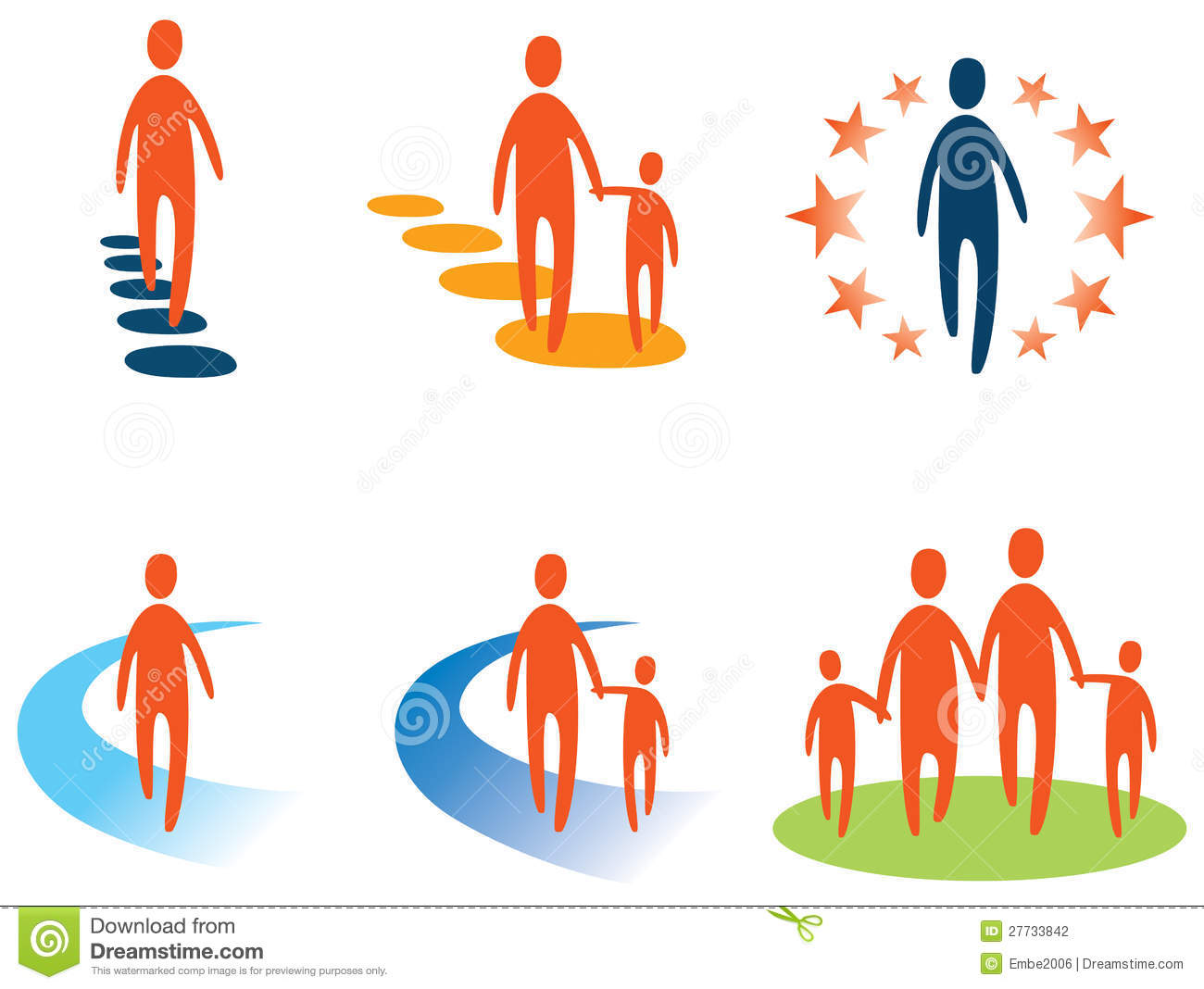 Walking People Logo Person and People Logo