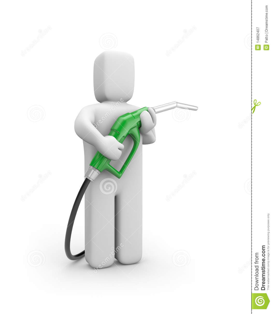 Person with petrol pump