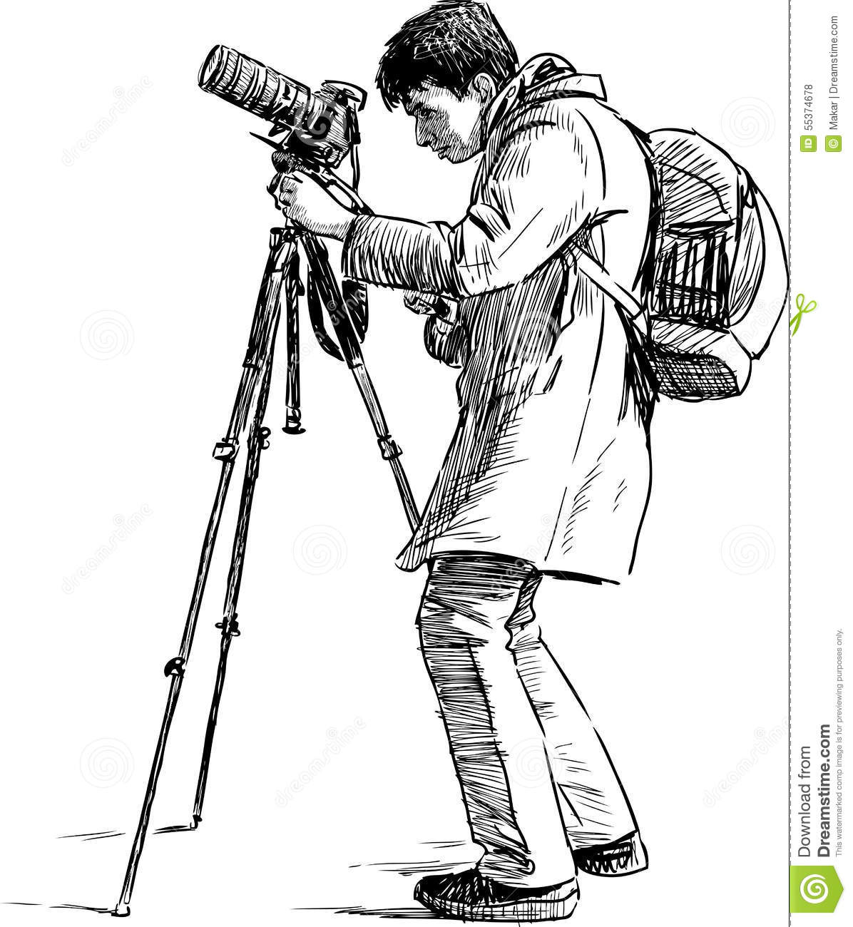 Person photographing stock vector. Illustration of white ...  Person photogra...
