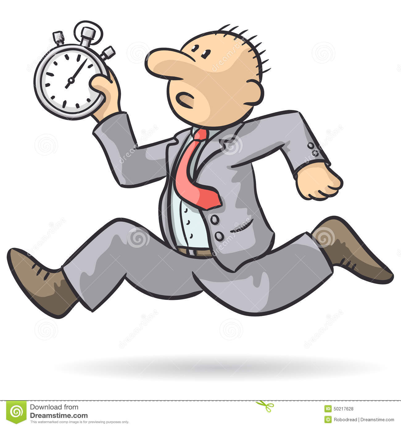 person runs with stopwatch stock vector illustration of record